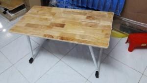 Bàn gỗ ghép chân gập