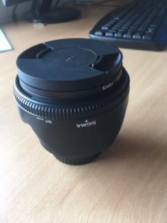 Bán lens sigma 50 f1.4 DG HSM mới 90% hoàn hảo