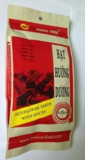 Hạt hướng dương Minh Văn vị sữa dừa loại 250gam (36 gói/thùng)