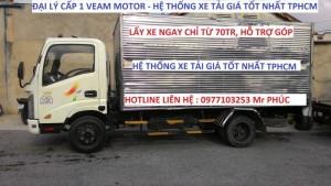 Xe tải veam 2t4 thùng dài/xe, tải huyndai 2t4 vào được tp/mua xe tải giá tốt ở tphcm