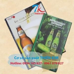 Nhà sản xuất cuốn menu, cung cấp cuốn menu da, gia công bìa menu, làm bìa trình ký, bìa kẹp hồ sơ,