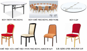 Bàn ghế inox nhà hàng tiệc cưới, khách sạn, quán ăn, ghế tiệc sắt giá rẻ tại Hà Nội