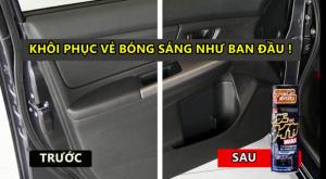 Dung dịch vệ sinh xe hơi đa năng 3 TRONG 1  Leather & Tire Wax Nhật Bản