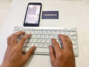 Keyboard Bluetooth KB16 MINI , kết nối IPHONE, IPAD, LAPTOP - MSN388054