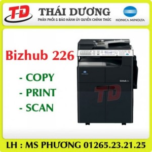 Máy photocopy Konica Minolta bizhub 226 giá thấp, bền bỉ.