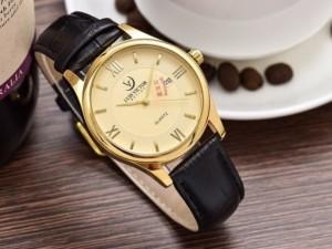 Đồng hồ nam Luis Victor viền inox, kính sapphire