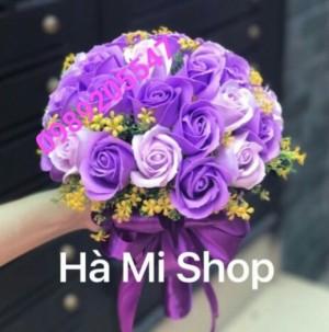 Bó hoa cưới bằng sáp thơm