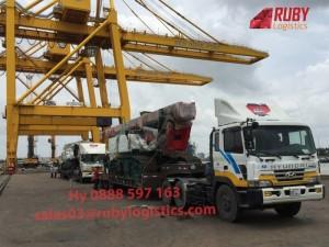 Vận chuyển nhà thép tiền chế đi Campuchia