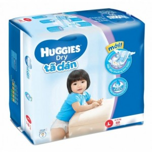 Tả dán Huggies L68 Freeship