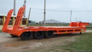 Rơ mooc tải lùn chuyên dùng chiều dài 14m, 3...