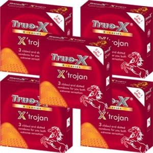Combo 5 hộp Bao cao su 3 trong 1 X'trojan
