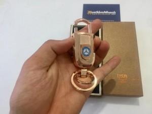 Hộp quẹt điện USB Lighter mạ vàng kiêm móc khóa sang trọng. Là món quà độc đáo, ý nghĩa