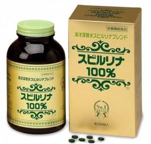 Tảo xoắn Spirulina Nhật Bản 100% hộp 2200 viên.