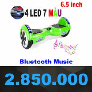 Xe điện cân bằng 2 bánh 4 đèn LED loa bluetooth