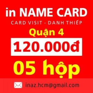 In card visit, danh thiếp, name card giá rẻ Quận 4 tphcm