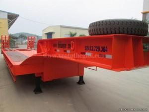BÁN Sơ mi rơ mooc lùn chở xe, chở máy chuyên dùng dài 14m, 3 trục chính hãng Doosung