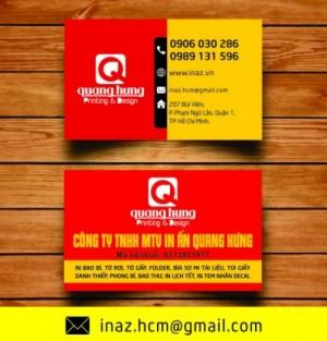 In danh thiếp, card visit, name card giá rẻ Quận 1