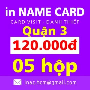 In danh thiếp, card visit, name card giá rẻ Quận 3