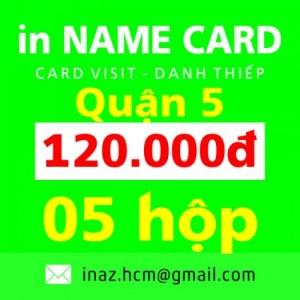 In danh thiếp, card visit, name card giá rẻ Quận 5