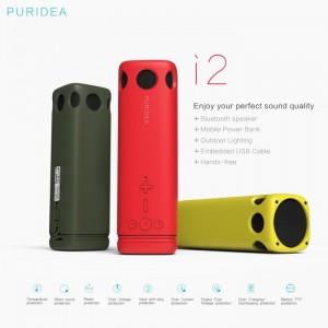 Loa Bluetooth PURIDEA 2 in 1 Kiêm Pin Dự Phòng 10.000 mAh - Loa Nghe Nhạc Cực Hay - Kiêm Đèn Pin Gắn Trên Xe Đạp, Loa PURIDEA I2 - MSN181168