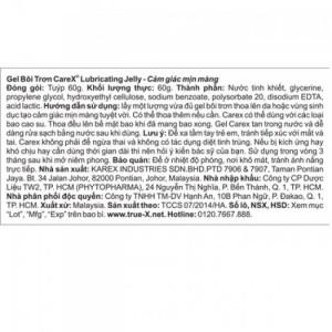Combo 2 loại Bao cao su Cực siêu mỏng TrueFeel + Gel Bôi Trơn CareX Jelly Cooling