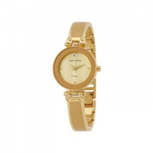 Đồng Hồ Dây Alloy Nữ Anne Klein Tan Mother Of Pearl (Gold)