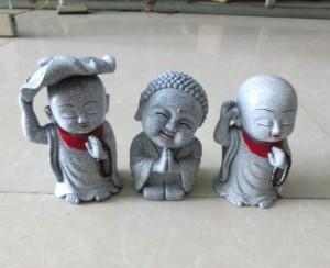 Bộ ba Tượng đá chú tiểu trang trí