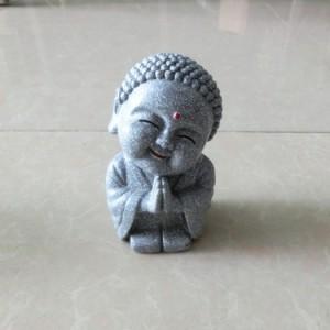 Tượng Đá Phật Cười (Màu Đá), Dài 7 x Rộng 6 x Cao 12 (cm), Giá 150.000₫.