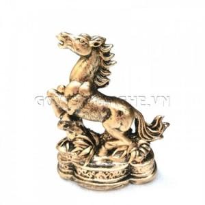 Tượng Đá Ngựa Phong Thủy (Màu Nhũ Đồng)