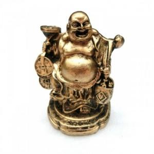 Tượng Đá Phật Di Lặc Size Nhỏ (Đá Poly - Nhũ Đồng)