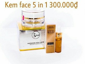 Face whitening cream 5in1