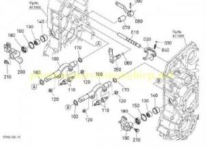 Trục liên kết Kobuta PRO688-Q, DC-60, DC-70;