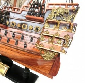 Mô hình thuyền gỗ chiến cổ Soleil Royal 50cm(Gỗ Tự Nhiên), Dài 50 x Rộng 18 x Cao 47 (cm), Giá 949.000đ