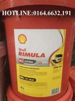 Dầu động cơ Shell Rimula R2 Extra 20W-50/15w40-18L