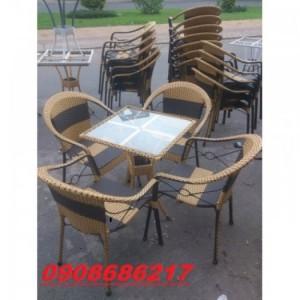 Ghế mây dùng cho cafe sân vườn giá rẻ