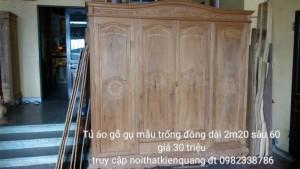 Tủ áo 4 cánh 3  buồng dài 2m30 gỗ gụ
