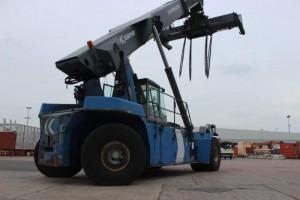 Xe cẩu gắp nâng hạ container hàng 45 tấn/ nâng container rỗng Kalmar DRF