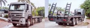 Bán xe tải nâng đầu chở máy công trình giá rẻ