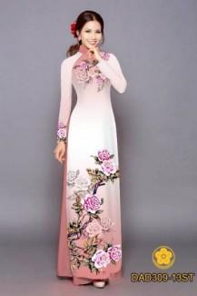 Vải áo dài hình hoa hồng của Vải Áo Dài Kim Ngọc