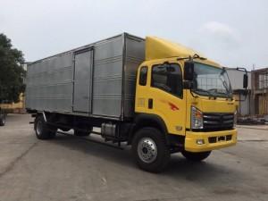 Xe tải nặng 9T1 Thùng Kín màu vàng
