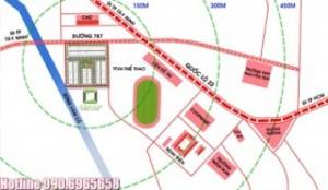 Khu phố thương mại Mai Anh - trung tâm thị trấn Trảng Bàng - Tây Ninh.