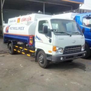 Xe bồn Hyundai 8 khối,Bồn xăng dầu Hyundai HD650 thể tích 8000 lít