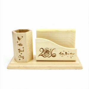 Khay cấm bút gỗ để bàn - khắc theo yêu cầu