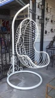 Ghế xích đu sắt mỹ thuật cực đẹp, cực bền, giá siêu hot