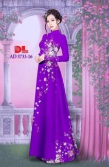 Vải áo dài hoa đẹp với hình ảnh nàng yêu kiều của Vải Áo Dài Kim Ngọc