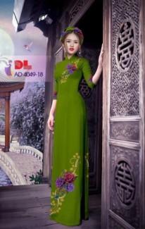 Vải áo dài hoa đẹp. Đẹp quá xá luôn ạ! Đơn giản,nhẹ nhàng của Vải Áo Dài Kim Ngọc