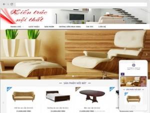 Mẫu website nội thất
