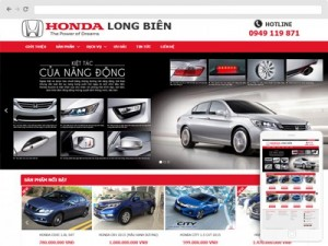 Mẫu website ô tô