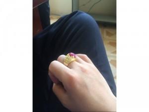 Nhẫn nam mặt đá ruby