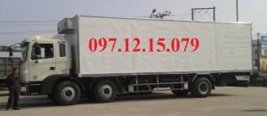 Xe 3 chân 2 dí 1 cầu hfc1255kr1 giá tốt  thùng dài tại hà nội